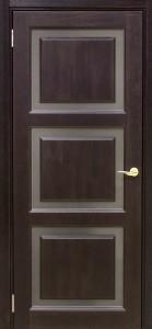 Межкомнатная дверь Трио Венге ДЧ (массив)
