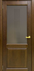 Межкомнатная дверь Рузвельт Бреннерский орех ДО (массив бук)