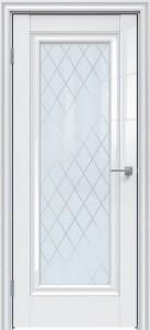 Межкомнатная дверь GLOSS 591 белый глянец ромб