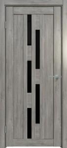 Межкомнатная дверь 537 Бриг чёрное стекло